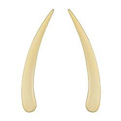 10k Yellow Gold High Polish Tusk Climber Earrings