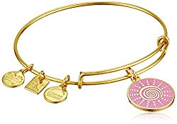 Alex and Ani Women's Charity by Design – Spiral Sun Expandable Charm Bangle Bracelet Shiny Gold Bangle Bracelet One Size