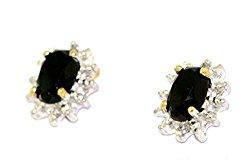 Birthstone Earrings 14K Yellow Gold or 14K White Gold