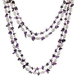 HinsonGayle 2-Strand Freshwater Cultured Pearl & Gemstone Necklace & Dangle Earring Set