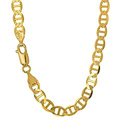 JewelStop 14k Solid Yellow Gold 3.2 mm Mariner Anklet, Lobster Claw Clasp – 10 Inche