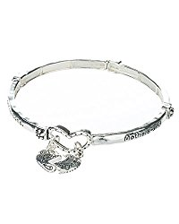 Mother & Daughter Heart Charm Bracelet by Jewelry Nexus Mothers & Daughters Share an Everlasting Bond
