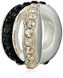 Persona Sterling Silver Crystal Spacer Beads
