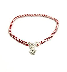 Red Kabbalah String in Sterling Silver Bracelet Evil Eye Jewelry with Hamsa Hand for Protection