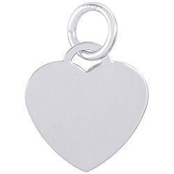 Rembrandt Charms, Classic Small Heart, Engravable