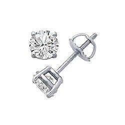 Round Diamond stud (IGI Certified 0.70 ct & up) Plus Quality ScrewBack 14K from 0.04ct – 2.00ct