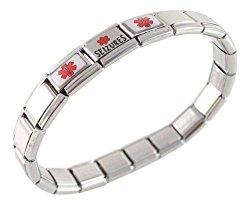 Seizures Medical Id Alert Italian Charm Bracelet