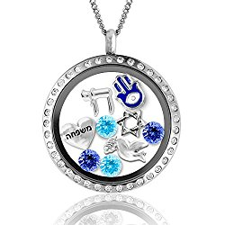 Hanukkah Gifts! Fashion Jewelry Necklaces in Judaica Gifts, Jewish Charms Locket Menorah Necklace Jewish Gifts