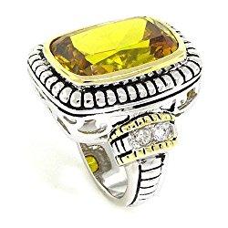 Beautiful 2-tone Ring-Golden & White CZs