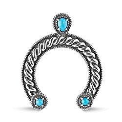 Sterling Silver Sleeping Beauty Turquoise Naja Pendant Enhancer