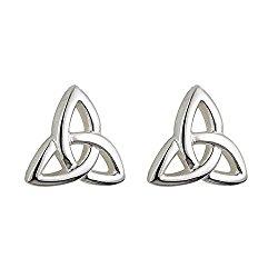 Celtic Kids Trinity Knot Earrings Silver Studs Irish Made