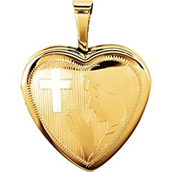 Gold Plated & Sterling Silver Prayer Locket