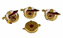 6030632 Set of 4 Shrine Emblem Button Covers Scimitar Crescent Star