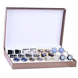 BodyJ4You Cufflink 12 Pairs Two Tone Classy Stylish Men's Cuff Links Elegant Gift Box