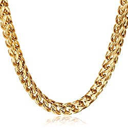 FIBO STEEL 3-6mm Thick Curb Chain Necklace for Men Stainless Steel Biker, 20-30 inches