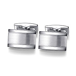 Honey Bear Cufflinks For Mens – Rectangle Stainless Steel Silver Gold,for Business Wedding Gift