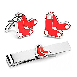 Promotioneer Men's The Team Logo Symbol Series Cufflinks and Tie Clip Tie Bar