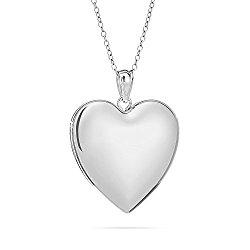 Large Sterling Silver Plain Heart Locket