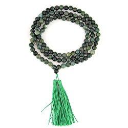 8mm Agate Beads Tibetan Buddhist Prayer Meditation 108 Mala Necklace