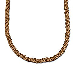 Bronze Braided Leather Cord Necklace