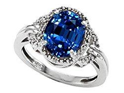 Tommaso Design 14k White Gold Large 10x8mm Oval Halo Big Stone Ring