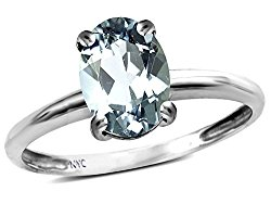 Star K 14k Gold Classic Solitaire Oval 8×6 Engagement Promise Ring
