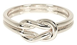 Sterling Forever Double Knot Ring Knot Ring in Sterling Silver, Love Knot Ring, Promise Ring