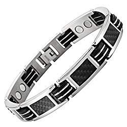 Carbon Fiber Titanium Magnetic Bracelet Adjustable Included By Willis Judd