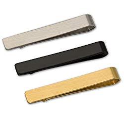 8BEES GIFT Gentleman Silver Metal Simple Necktie Tie's Clip Bar Clasp Practical Plain