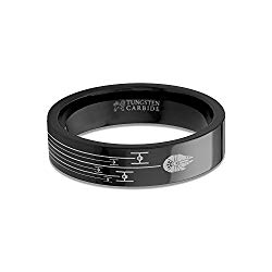 Hanover Jewelers Star Wars Millennium Falcon TIE Fighter Chase Black Tungsten Ring – 6 mm
