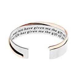 Stepmother Gift, You May Not Have Given Me The Gift of Life, But Life Has Given Me The Gift of You Mother Bracelets, Wedding Present for Bonus Mom Jewelry