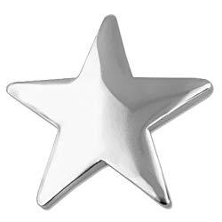 PinMart's Classic Shiny Silver Star Lapel Pin