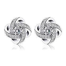 B.Catcher Earrings Studs Womens 925 Sterling Silver Gemini Earring Set Gift