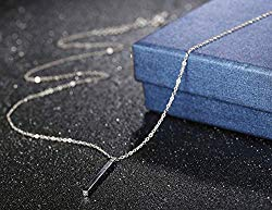 LOYALLOOK Bar Pendant Necklace Multilayer Simple Layered Choker Necklace Long Chain Y Necklace for Women Girls