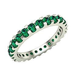 Emerald 2.25 mm Stackable Eternity Band 14K Gold