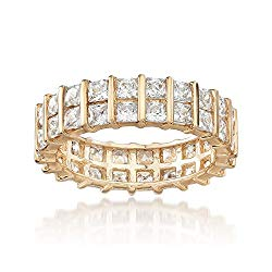 Ross-Simons 4.00-4.60 ct. t.w. Princess-Cut Eternity Band in 14kt Yellow Gold