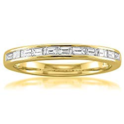 14k Yellow Gold Baguette Diamond Bridal Wedding Band Ring (1/2 cttw, I-J, VS2-SI1)