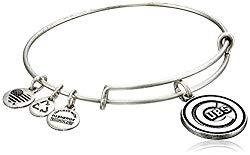 Alex and Ani Chicago Cubs Cap Logo Expandable Rafaelian Silver Bangle Bracelet