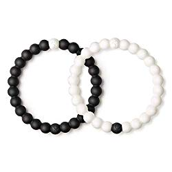 Lokai Black & White Bracelet Pair