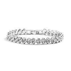 Mariell 6 3/8″ CZ Wedding Bridal or Prom Tennis Bracelet – Petite Size, Perfect for Smaller Wrist.