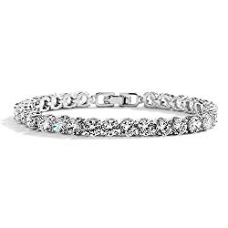 Mariell Glamorous Platinum Silver 6 1/2″ Petite Size CZ Bridal Tennis Bracelet – Ideal for Smaller Wrist!