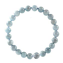 Natural Gemstone Bracelet 7.5 inch Stretchy Chakra Gems Stones Healing Crystal Quartz Women Men Girls Gifts (Unisex)