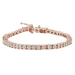 Original Classics 1.0 Ct Rose-Cut Diamond Tennis Bracelet – Flawless Style with Brilliant Shine