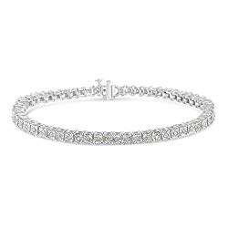 Original Classics 1.0 Ct Rose-Cut Square Frame Diamond Tennis Bracelet – Flawless Style with Brilliant Shine