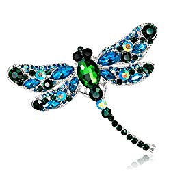 Crystal Rhinestone Dragonfly Brooch – Enamel Pin Jewelry Birthday Gifts for Women Men