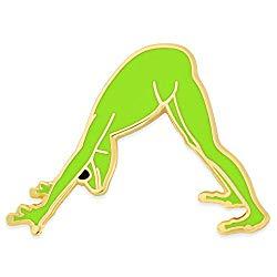 PinMart Yoga Frog – Downward Facing Frog Trendy Enamel Lapel Pin