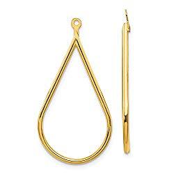 14k Polished Teardrop Earring Jackets in 14k Yellow Gold