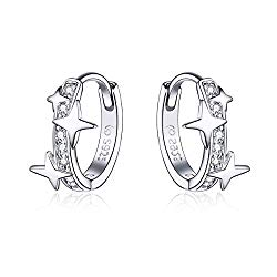 Small Hoop Earrings for Girls Women S925 Sterling Silver Hypoallergenic Earrings 3A CZ Birthday Christmas Gifts for Teen Girl