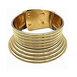 Aijian African Jewelry Statement Chokers Egypt Gold Tone Choker Women Chunky Leather Collar Necklace