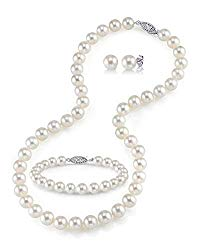 Freshwater Cultured Pearl Jewelry Set for Women Includes Necklace, Bracelet, and Earrings with 925 Sterling Silver – THE PEARL SOURCE